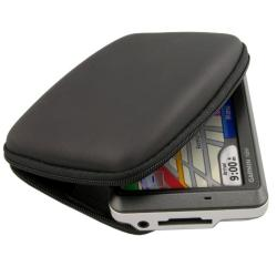 BasAcc Black Eva Hard Case for Garmin Nuvi 255W with Lanyard