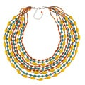 Bright Color Multi Strand Beaded Necklace (India)