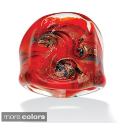 Lillith Star Multi-colored Glass Dome Ring