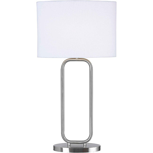 Stills 27-inch Brushed Steel Table Lamp