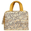 Vintage Reign Mustard Zebra Print Leather Tote Bag