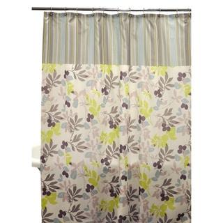 Wind Contrast Block Shower Curtain