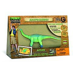 Dino Dan Medium Green Apatosaurus Figure Kids' Plastic Dinosaur Toy