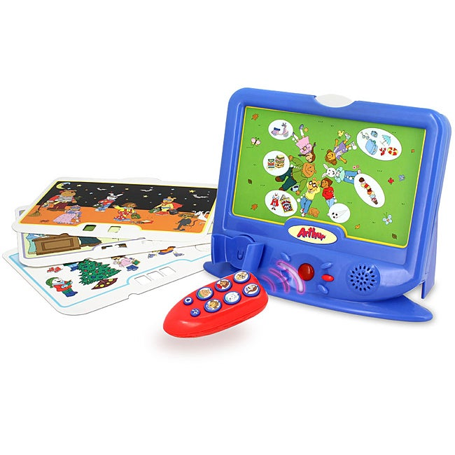 Blue Plastic Arthur Little Educational TV with Remote Control