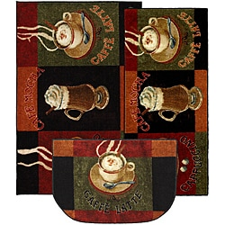 Mohawk Home Cafe Latte Three-piece Kitchen Rug Set