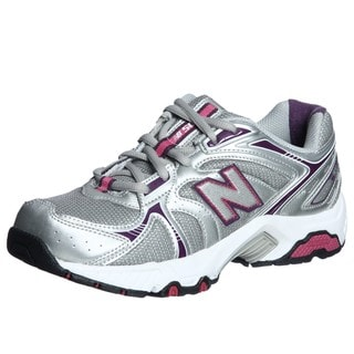 New Balance Women's 506 Silver/ Purple Athletic Shoes