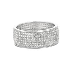 Sterling Silver Clear Cubic Zirconia Fashion Band