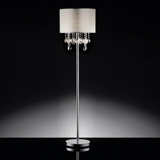 INSPIRE Q Audrina Drape Crystal Floor Lamp
