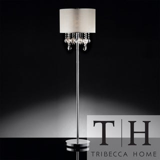 TRIBECCA HOME Audrina Drape Crystal Floor Lamp