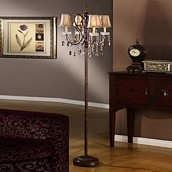 Clarissa Tea Crystal Floor Lamp