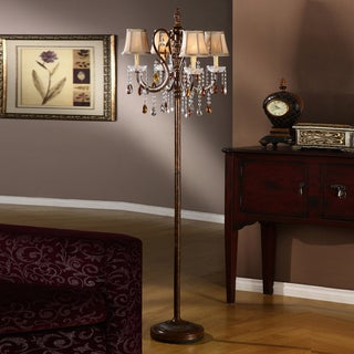 TRIBECCA HOME Clarissa Tea Crystal Floor Lamp