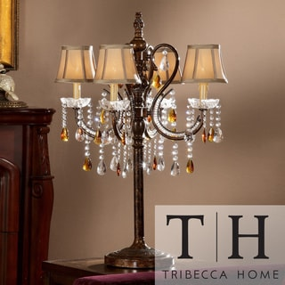 TRIBECCA HOME Clarissa Tea Crystal Table Lamp