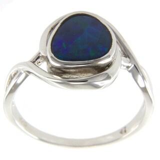 Pearlz Ocean Blue Boulder Opal Ring