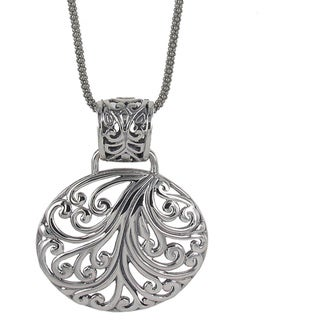 Sunstone Sterling Silver Filigree Oval Bali Necklace