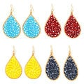 Nexte Jewelry Peruvian Flash Color Beaded Earrings