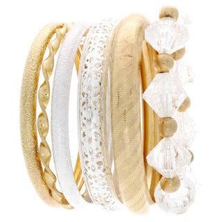 Nexte Jewelry 6-piece Stackable Combizon Stackable Bangle Set