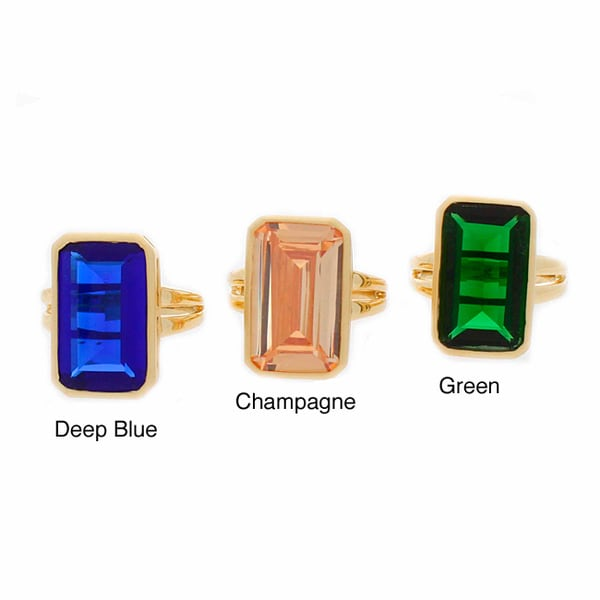 NEXTE Jewelry Goldtone Colored Cubic Zirconia Ring