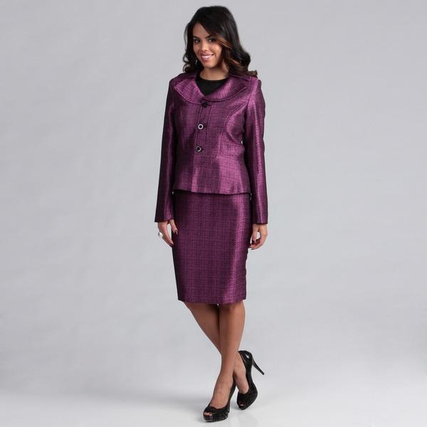 Danillo Women's Portrait Collar Skirt Suit