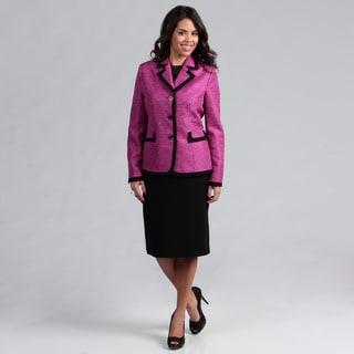 Danillo Women's Space Dyed Framed Skirt Suit
