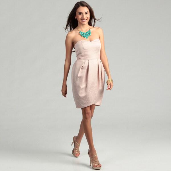 Max & Cleo Women's Sleeveless Sweetheart Neckline Dress