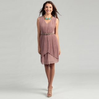 Max & Cleo Women's Lynn Shirred Overlay Dress