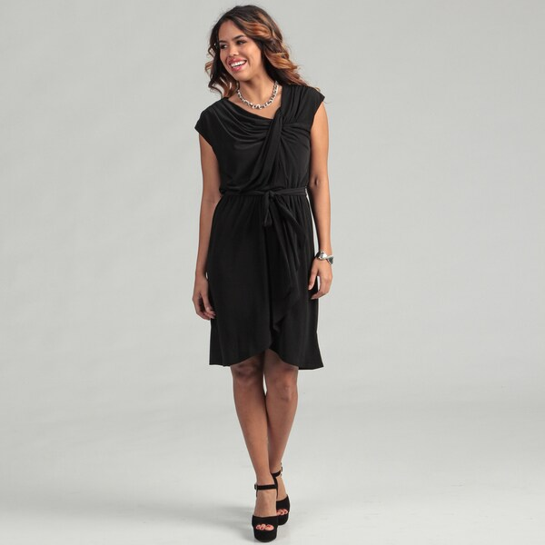 Max & Cleo Women's Daria Cap Sleeve Self Belt Dress