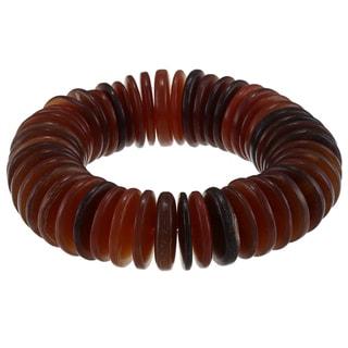 Kenneth Jay Lane Horn Disk Bead Stretch Bracelet