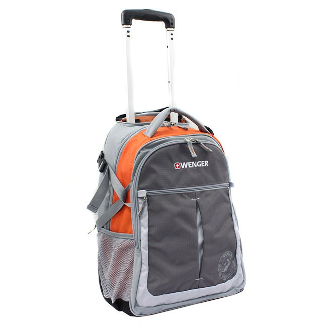 Wenger Swiss Gear Orange 20-inch Rolling Carry-On Backpack