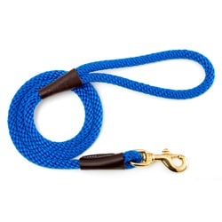 Mendota Blue Six-Foot Snap Pet Leash