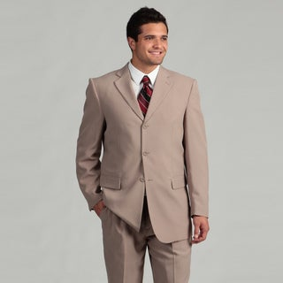 Victorio Couture Men's 3-button Beige Suit