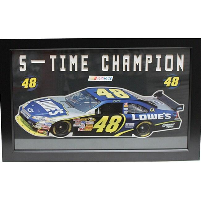 Jimmie Johnson 'Five-Time Champion' Custom Frame