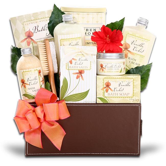 Alder Creek Deluxe Vanilla Orchid Spa Gift Basket