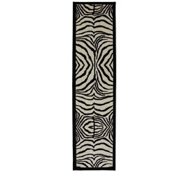 Zebra Safari Accent Rug (2' x 8')