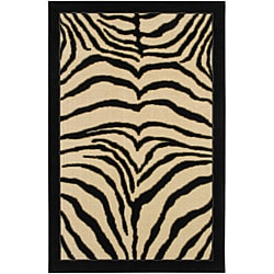Zebra Safari Area Rug (8' x 10')