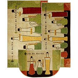 Mohawk Home Toscana Three-piece Kitchen Rug Set