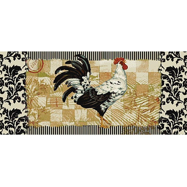 Bergerac Rooster Kitchen Accent Rug (1'8 X 3'9