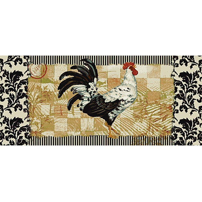 Bergerac Rooster Kitchen Accent Rug 1 8 X 3 9