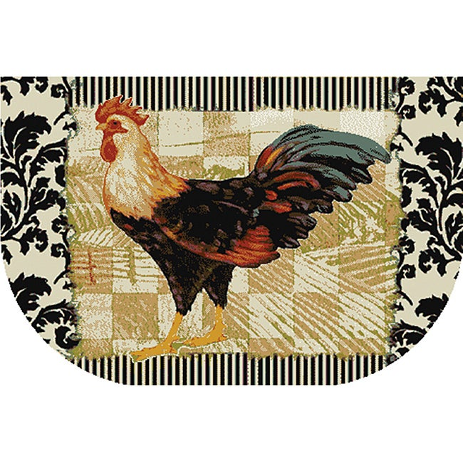 Bergerac Rooster Kitchen Accent Rug (1'6 x 2'6)