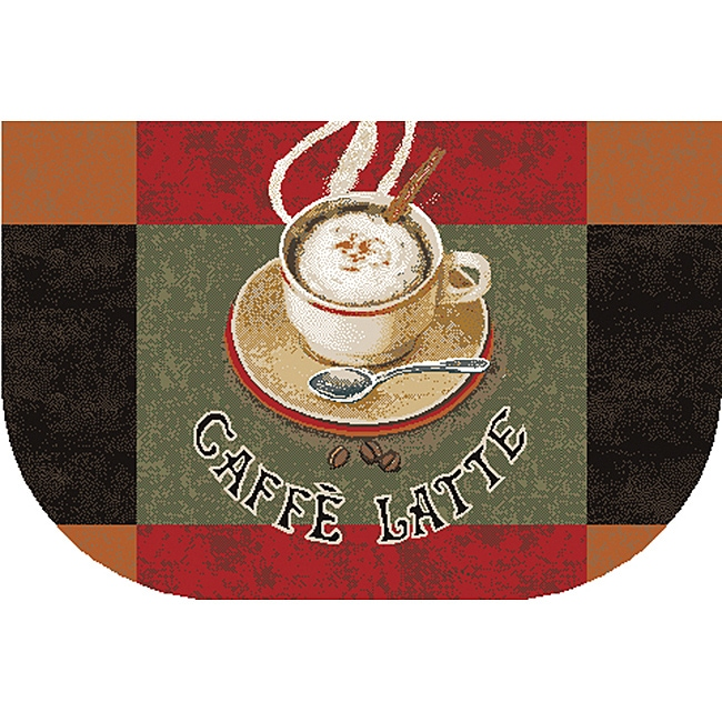 Cafe Latte Kitchen Accent Rug (1'6 x 2'6)