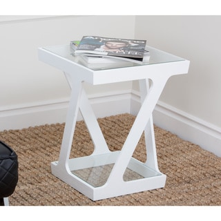 Abbyson Living Zen Glass End Table
