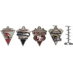 CGC Pewter Unisex NFC West Team Licensed NFL Pennant Necklace