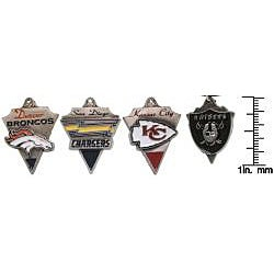 CGC Pewter Unisex AFC West Team Licensed NFL Pennant Necklace