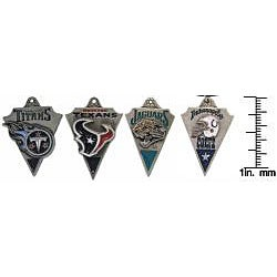 CGC Pewter Unisex AFC South Team Licensed NFL Pennant Necklace