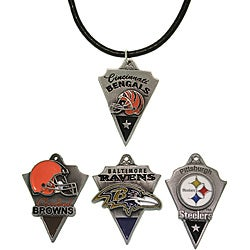 CGC Pewter Unisex AFC North Team Licensed NFL Pennant Necklace