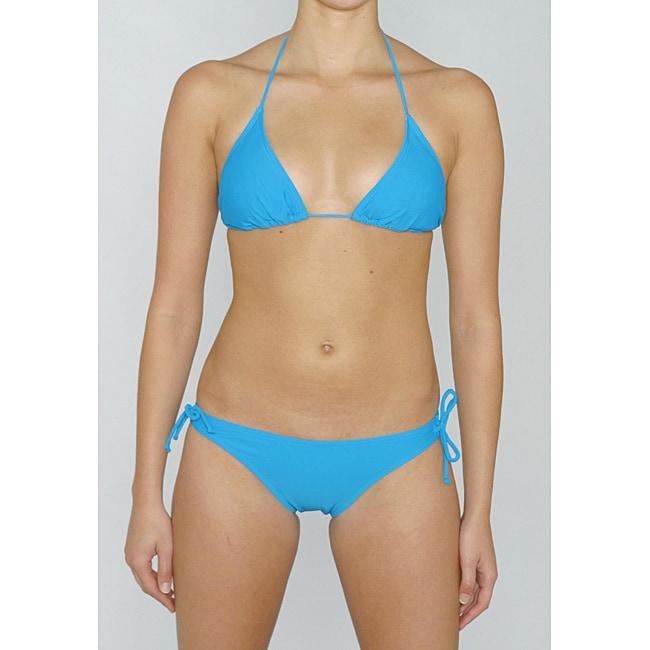 Island World Junior's Teal Brazilian Cut 2-piece Bikini