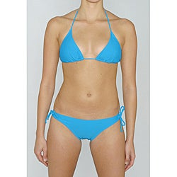 Island World Junior's Teal Brazilian Cut 2-piece Bikini