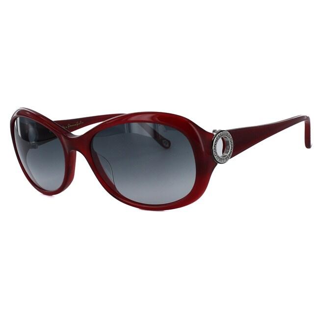 Lulu Guinness Women's L485 Red Round Sunglasses