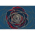 "Maxwell Dickson 'Rose"" Flower Canvas Art Print"