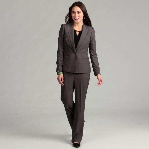 Anne Klein Women's Single Button Pant Suit