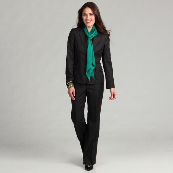 Anne Klein Women's 2-button Pinstripe Suit